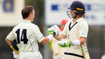 Marcus Harris and Will Pucovski celebrated centuries during an enormous opening partnership