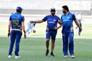 Rohit Sharma and Zaheer Khan share a light moment as Jasprit Bumrah looks on, Delhi Capitals vs Mumbai Indians, IPL 2020, Dubai, October 31, 2020