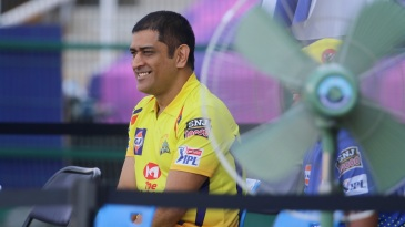 MS Dhoni relaxes ahead of the game