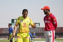 MS Dhoni and KL Rahul at the toss, Chennai Super Kings vs Kings XI Punjab, IPL 2020, Abu Dhabi, November 1, 2020