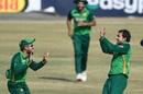 Iftikhar Ahmed celebrates after bagging a five-for, Pakistan v Zimbabwe, 2nd ODI, Rawalpindi, November 1, 2020