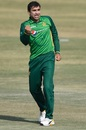 Iftikhar Ahmed celebrates after dismissing Tendai Chisoro, Pakistan v Zimbabwe, 2nd ODI, Rawalpindi, November 1, 2020