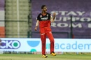 Shahbaz Ahmed is pumped after picking up a wicket, Delhi Capitals vs Royal Challengers Bangalore, IPL 2020, Abu Dhabi, November 2, 2020