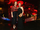 Alex Blackwell with her wife Lynsey Askew at the Allan Border medal night, Melbourne, January 27, 2016