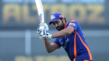 Rohit Sharma at a pre-match training session - left hamstring holding up fine