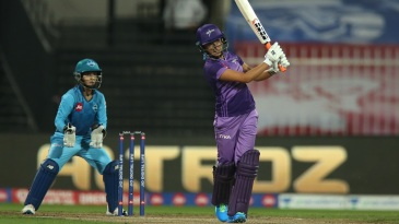 Sushma Verma targets the leg-side boundary