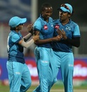 Poonam Yadav, Ayabonga Khaka and Chamari Atapattu celebrate a wicket, Supernovas vs Velocity, Women's T20 Challenge, Sharjah, November 4, 2020