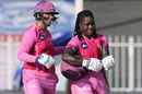 Richa Ghosh and Deandra Dottin walk back to the dugout, Trailblazers vs Velocity, Women's T20 Challenge, Sharjah, November 5, 2020