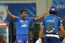 R Ashwin is pleased after trapping Rohit Sharma inside the crease, Mumbai Indians vs Delhi Capitals, IPL 2020 Qualifier 1, Dubai, November 5, 2020