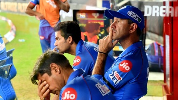 Coaches Ricky Ponting and Mohammad Kaif look on