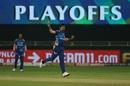 Jasprit Bumrah celebrates yet another wicket, Mumbai Indians vs Delhi Capitals, IPL 2020 Qualifier 1, Dubai, November 5, 2020