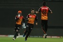 He gets wickets in the field too - a joyous Rashid Khan is all smiles after scoring a direct hit to run Moeen Ali out on a free hit, Sunrisers Hyderabad vs Royal Challengers Bangalore, IPL 2020, Eliminator, Abu Dhabi, November 6, 2020