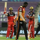 AB de Villiers hit a 43-ball 56 - as long as he was there, a big total was on the cards, Royal Challengers Bangalore vs Sunrisers Hyderabad, IPL 2020, Eliminator, November 6, 2020