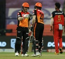 Manish Pandey and David Warner put the chase on the right track, Royal Challengers Bangalore vs Sunrisers Hyderabad, IPL 2020, Eliminator, November 6, 2020