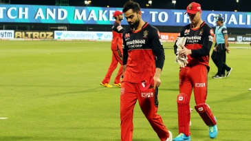 Virat Kohli and AB de Villiers walk off the field as yet another RCB season ends in disappointment