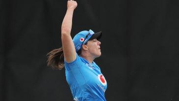 Tahlia McGrath celebrates her spectacular catch