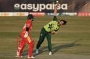Pakistan legspinner Usman Qadir in his delivery stride, Pakistan vs Zimbabwe, 1st T20I, Rawalpindi, November 7, 2020