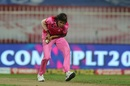 Jhulan Goswami latches on in her follow-through to send back Jemimah Rodrigues, Trailblazers vs Supernovas, Women's T20 Challenge 2020, Sharjah, November 7, 2020