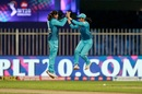 Radha Yadav and Jemimah Rodrigues celebrate after a wicket, Supernovas vs Velocity, Women's T20 Challenge, Sharjah, November 4, 2020