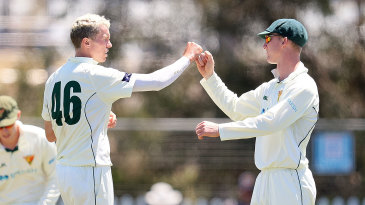 Peter Siddle took three wickets to help dismantle New South Wales