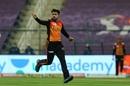 Rashid Khan celebrates a wicket, Delhi Capitals vs Sunrisers Hyderabad, IPL 2020, 2nd Eliminator, Abu Dhabi, November 8, 2020