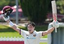 Matt Renshaw celebrates his first Shield century in two years, Queensland v South Australia, Glenelg Oval, Adelaide, Sheffield Shield, 9 November 2020