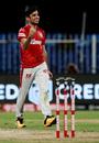 Ravi Bishnoi celebrates a wicket, Kolkata Knight Riders vs Kings XI Punjab, Sharjah, IPL 2020, October 26, 2020