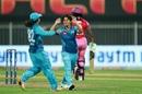 Poonam Yadav celebrates after having Deandra Dottin caught, Trailblazers vs Supernovas, Women's T20 Challenge 2020, Sharjah, November 9, 2020