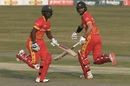 Chamu Chibhabha and Craig Ervine run between the wickets, Pakistan vs Zimbabwe, 3rd T20I, Rawalpindi, November 10, 2020