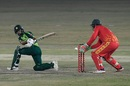 Abdullah Shafique plays a sweep, Pakistan vs Zimbabwe, 3rd T20I, Rawalpindi, November 10, 2020