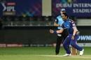 Jayant Yadav is pumped after bowling Shikhar Dhawan, Mumbai Indians vs Delhi Capitals, IPL 2020 final, Dubai, November 10, 2020