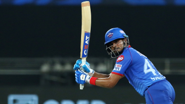 Shreyas Iyer finished unbeaten on 65 out of Delhi Capitals' total of 156 for 7