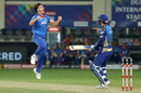 Marcus Stoinis is pumped up after striking with his first ball, Delhi Capitals vs Mumbai Indians, IPL 2020, final, Dubai, November 10, 2020