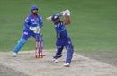 Rohit Sharma smashes one of his four sixes for the night, Mumbai Indians vs Delhi Capitals, IPL 2020 final, Dubai, November 10, 2020