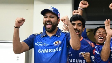 Rohit Sharma and Jasprit Bumrah lead the celebrations