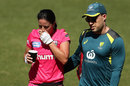 Marizanne Kapp was forced to retire hurt due to an elevated heart rate, Sydney Sixers v Perth Scorchers, WBBL, Blacktown, November 11, 2020