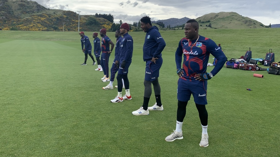 West Indies players prepare for the T20I series against New Zealand
