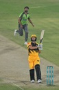 Hardus Viljoen goes for an aerial shot, Lahore Qalandars vs Peshawar Zalmi, Karachi, November 14, 2020