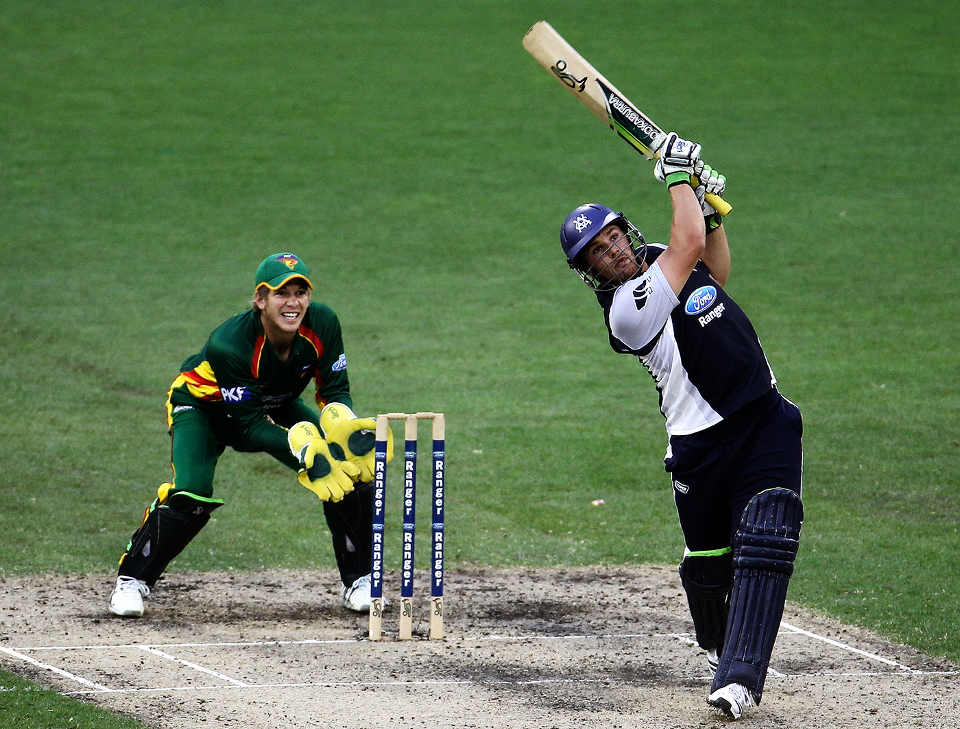 Aaron goes boom: Finch is seventh on the list of most prolific six-hitters in List A, T20 and first-class cricket combined, with 673