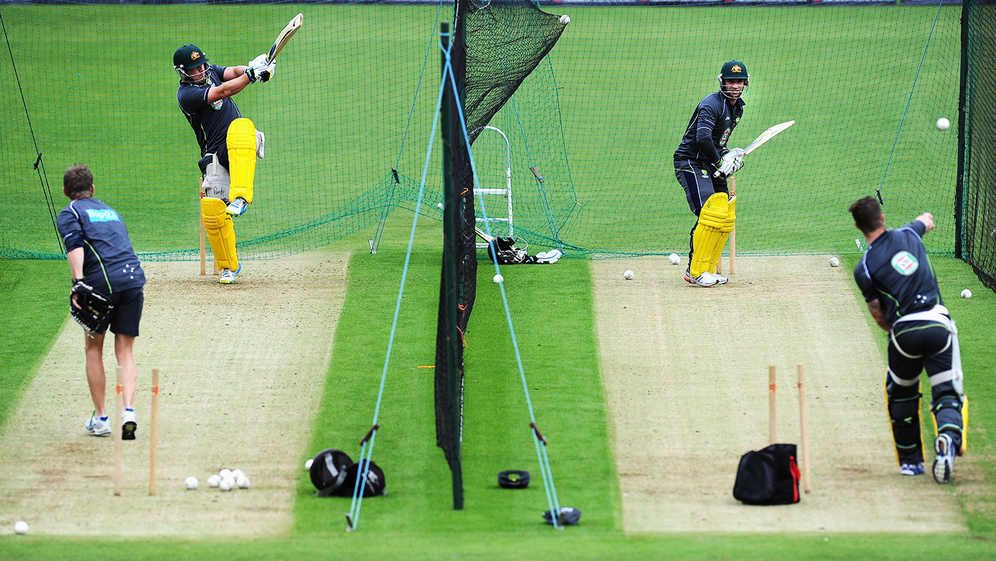 Finch and Phillip Hughes (right net), both from rural backgrounds, were good friends from the time they met at a CA programme in 2007