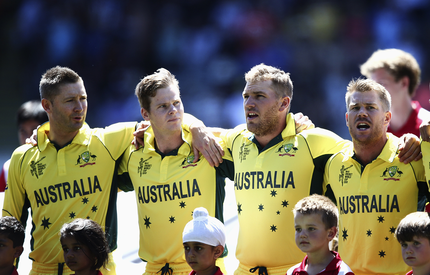 How many Australia captains can you fit in a picture?