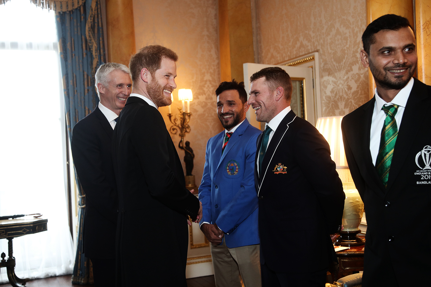 The perks of being a World Cup captain: having a laugh with Prince Harry in 2019