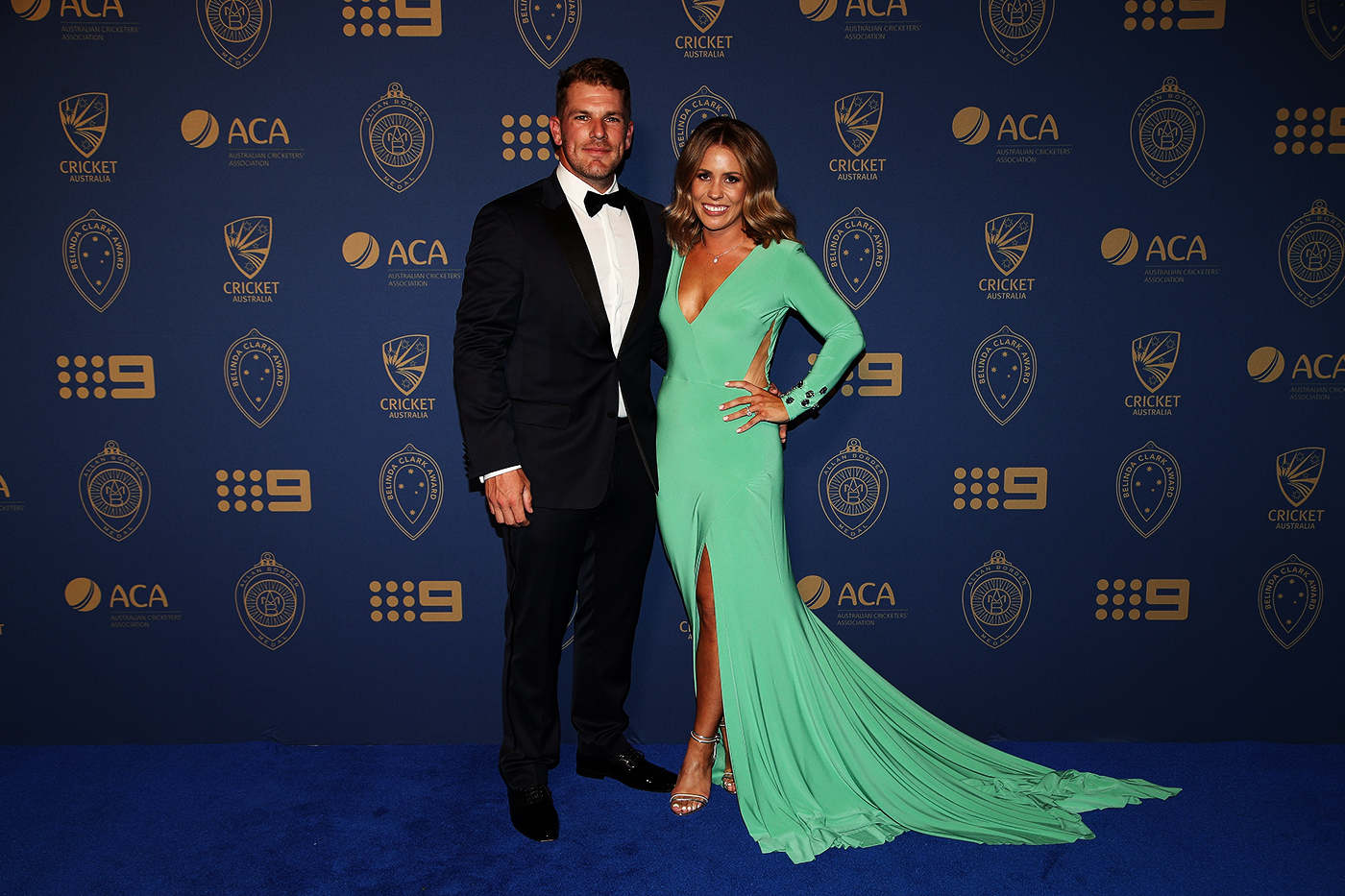 With his wife, Amy. For Finch, like for many other top-level cricketers, 2020 was the longest he spent at home