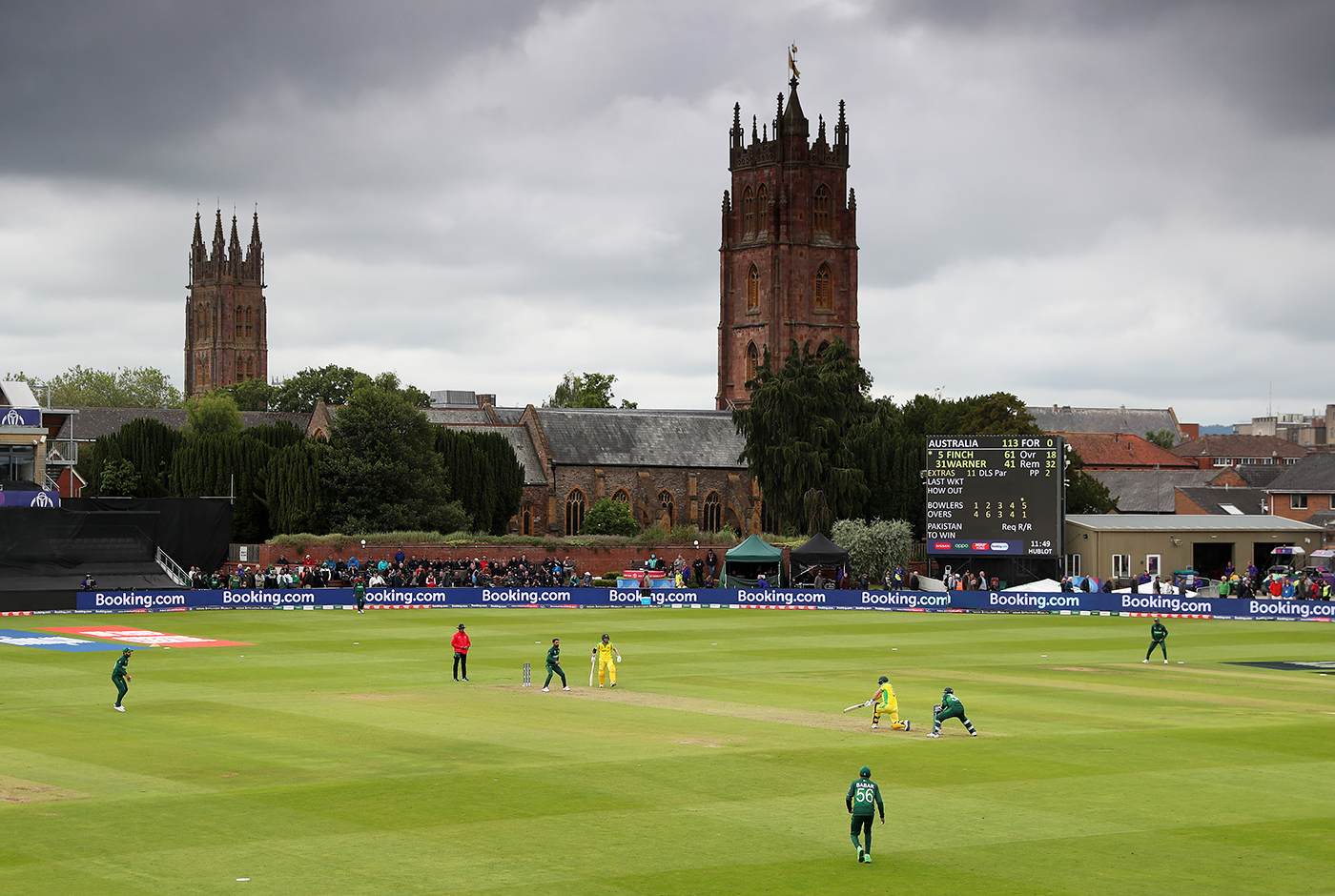 Finch led by example in the 2019 World Cup, averaging 50, with two hundreds and three fifties - including this 82 against Pakistan in Taunton