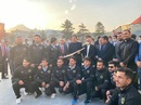 Imran Khan with members of the Afghanistan cricket team and ACB officials, Kabul, November 19, 2020