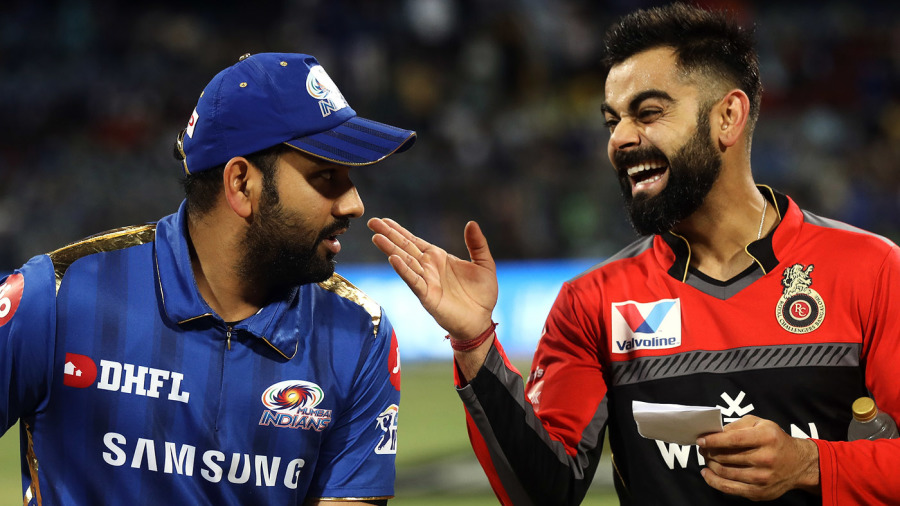 Rohit Sharma and Virat Kohli share a laugh