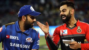 Rohit Sharma and Virat Kohli share a laugh