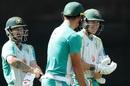 Matthew Wade and Marnus Labuschagne share a laugh during practice, Australia vs India, Sydney, November 24, 2020