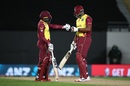 Fabian Allen and Kieron Pollard shared an explosive stand to get West Indies back on track, New Zealand vs West Indies, 1st T20I, Auckland, November 27, 2020