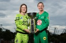 Rachael Haynes and Meg Lanning pose with the trophy, Melbourne Stars vs Sydney Thunder, WBBL 2020-21 final, Sydney, November 27, 2020